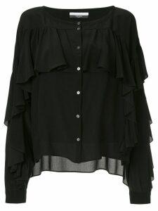 Faith Connexion ruffle buttoned blouse - Black
