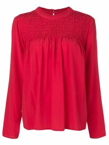 Steffen Schraut draped detail blouse - Red
