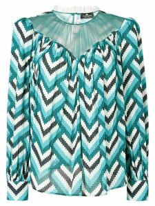 Elisabetta Franchi geometric loose fit blouse - Blue