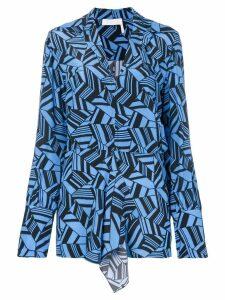 Chloé geometric print blouse - Blue