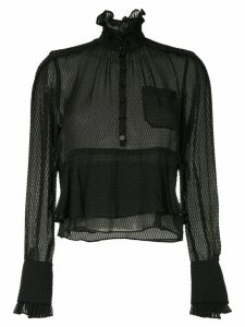 Carven frilled loose blouse - Black
