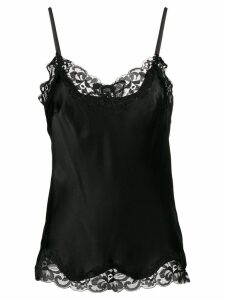 Gold Hawk lace trim cami top - Black