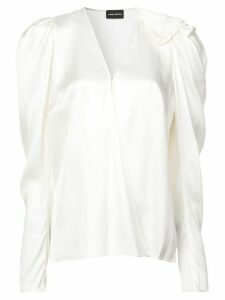 Magda Butrym V-neck blouse - White