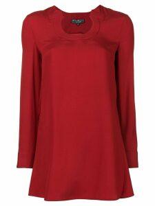 Salvatore Ferragamo Gancini neckline blouse - Red