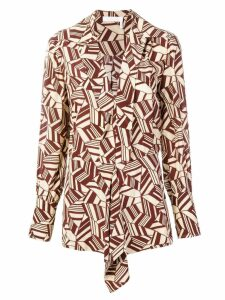 Chloé printed blouse - Brown