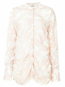 Jil Sander ruched floral blouse - PINK