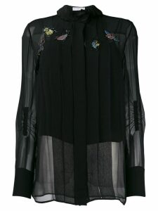 Carven bug-appliquéd blouse - Black