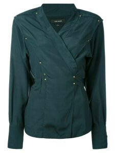 Isabel Marant studded wrap blouse - Green