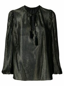 Saint Laurent metallic striped blouse - Black