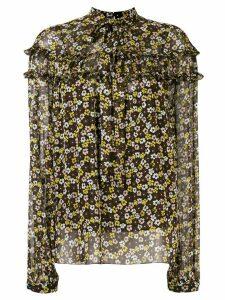 Rochas floral ruffle blouse - NEUTRALS