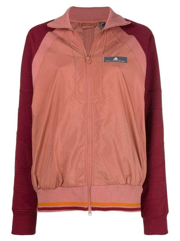 Adidas By Stella Mccartney contrast sleeved jacket - Pink & Purple