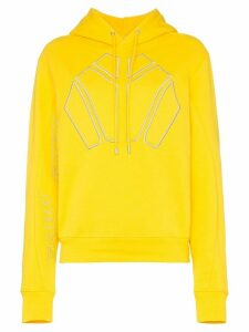 GmbH Logo Embroidered Hoodie - Yellow