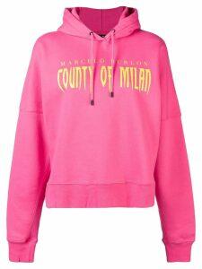 Marcelo Burlon County Of Milan logo print hoodie - Pink