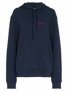 Calvin Klein 205W39nyc logo embroidered hoodie - Blue