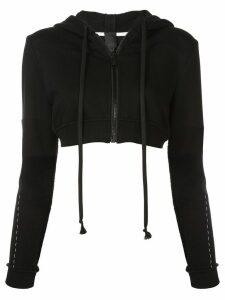 Vera Wang cropped zip hoodie - Black