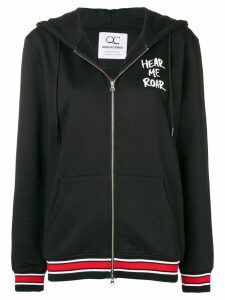 Quantum Courage rose and panther hoodie - Black