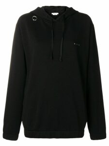 1017 ALYX 9SM ring detail oversized hoodie - Black