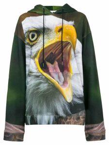 R13 Eagle print hoodie - Green