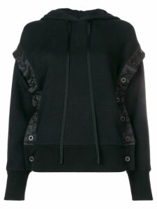 UNRAVEL PROJECT shell trim hoodie - Black