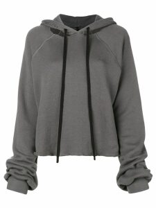 Unravel Project cropped destroyed hoodie - Grey