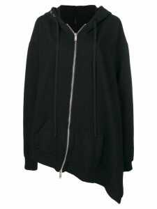Unravel Project asymmetric fit hoodie - Black
