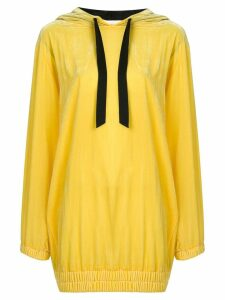 Philosophy Di Lorenzo Serafini embroidered logo hoodie - Yellow