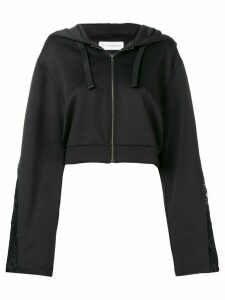 Faith Connexion cropped zipped hoodie - Black