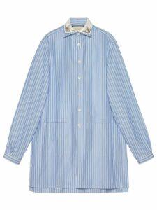 Gucci Striped oversize cotton shirt - Blue