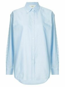 Ports 1961 embroidered side stripe shirt - Blue