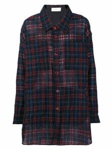 Faith Connexion oversized checked shirt - Red