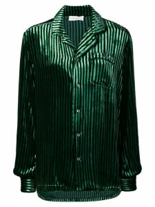 Faith Connexion striped single pocket shirt - Green