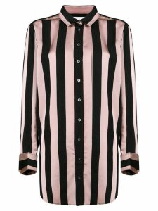 Marques'Almeida striped longline shirt - PINK