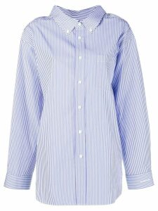 Balenciaga swing collar shirt - Blue