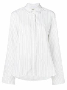 Odeeh pinstripe button-down shirt - White