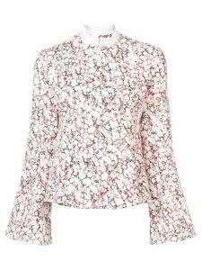 Rosie Assoulin printed peplum shirt - White