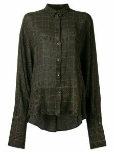 Palmer / Harding checked button-down shirt - Green