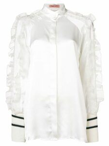 Maggie Marilyn ruffled sleeve blouse - White