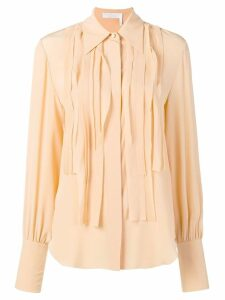 Chloé pleated placket shirt - Neutrals