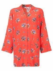 Ganni floral print shirt - Red