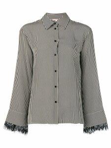 Gold Hawk vertical stripe shirt - Black
