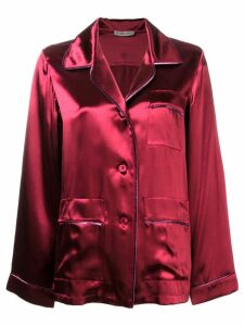 Bottega Veneta oversize satin pyjama shirt - Red