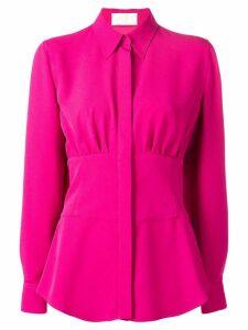 Sara Battaglia cinched waist shirt - PINK