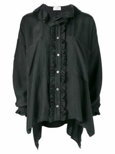 Faith Connexion deconstructed silk shirt - Black