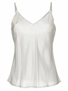 Lee Mathews V-neck cami top with lace - Grey