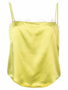 Fleur Du Mal straight neck cami top - Green