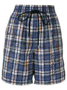 Burberry plaid shorts - Blue