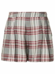 Markus Lupfer plaid high-waisted shorts - Multicolour
