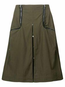 JW Anderson safari two-way zipper skirt - Green