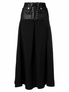 UNRAVEL PROJECT lace up skirt - Black
