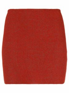 Yeezy high rise mini skirt - Red